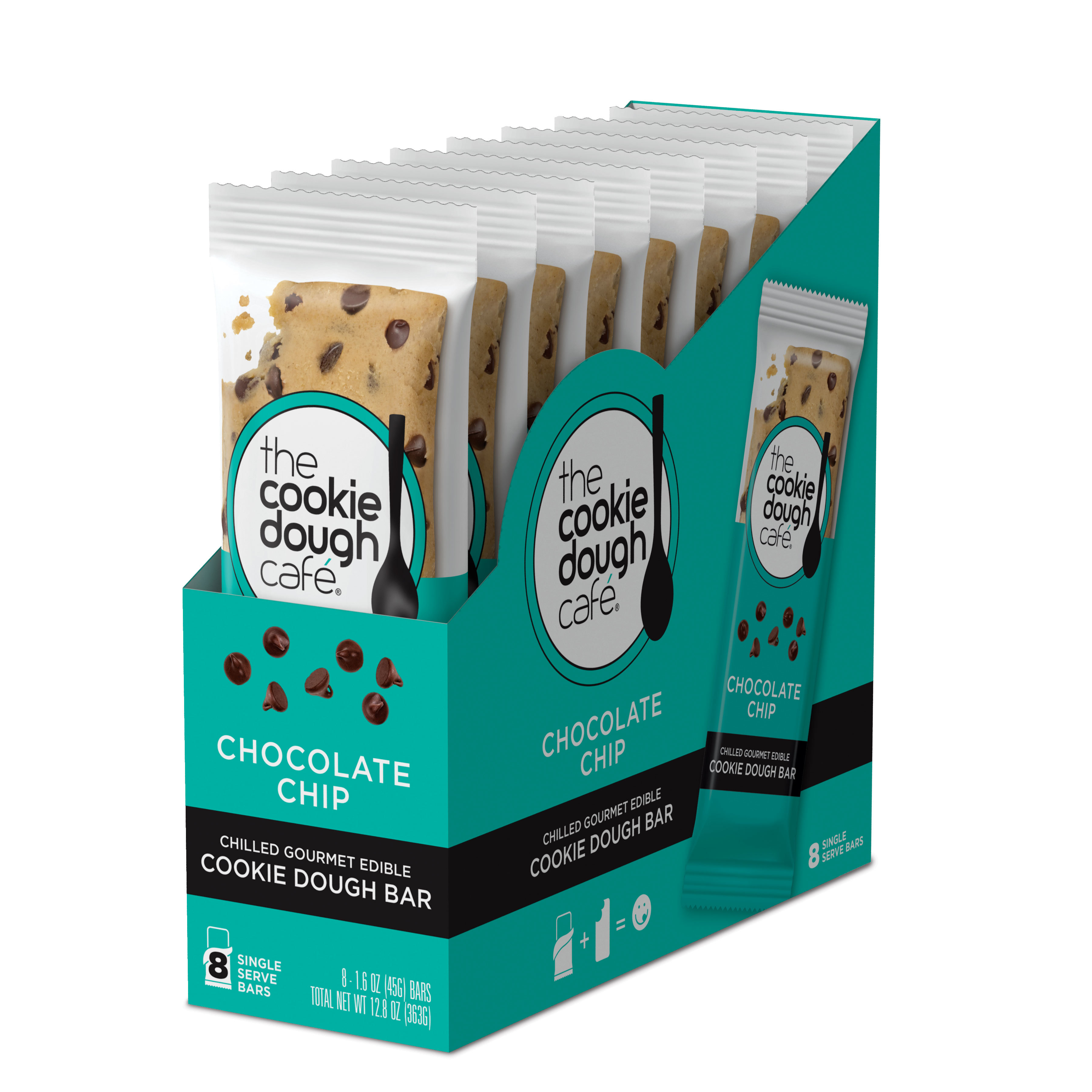 Chocolate Chip Cookie Dough Bars 16 Pack (1.6 oz each)