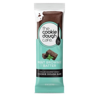 Mint Brownie Batter Cookie Dough Bars 16 Pack (1.6 oz each)