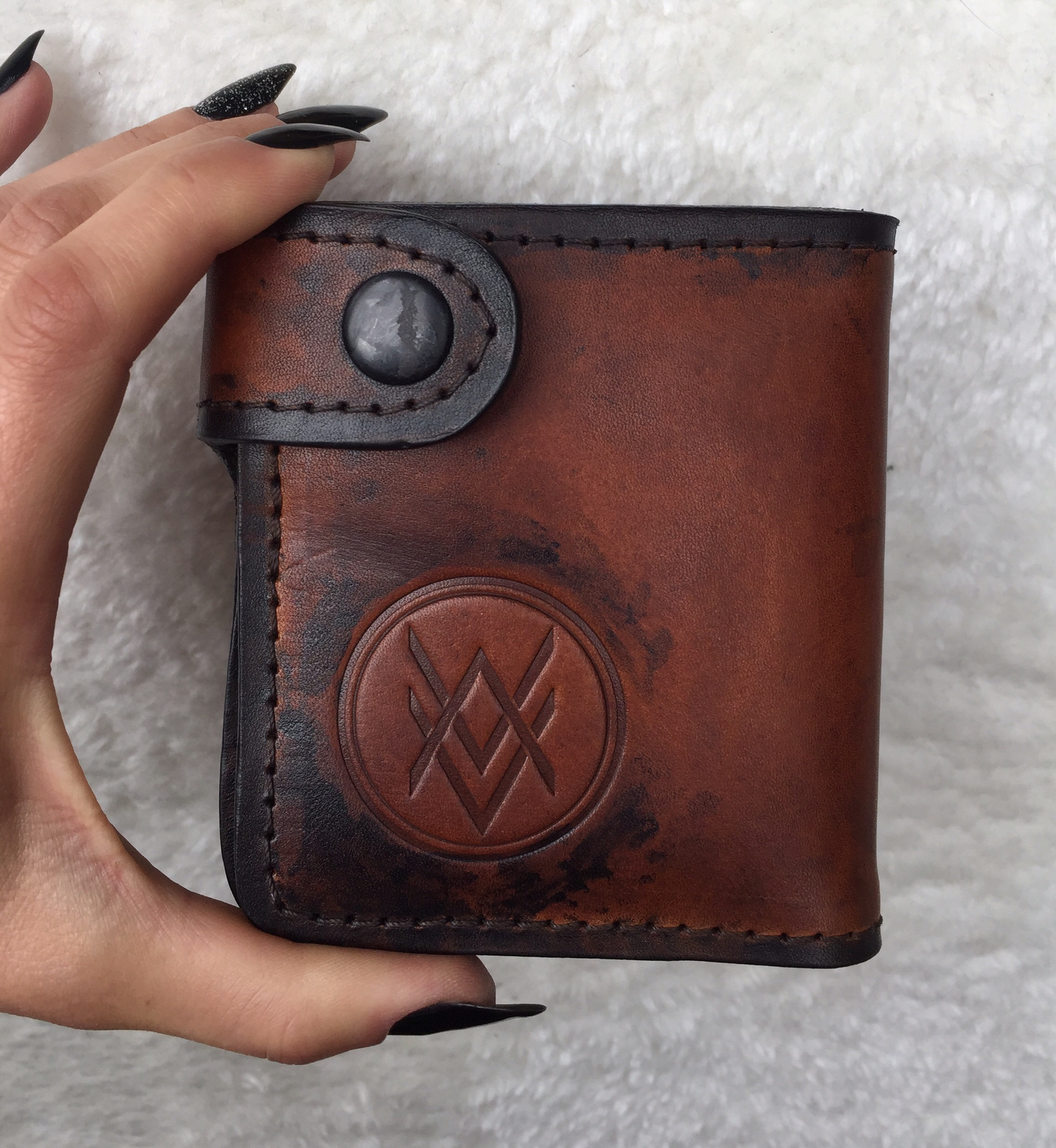 Leather Wallet (handmade, 100% genuine leather) 00040