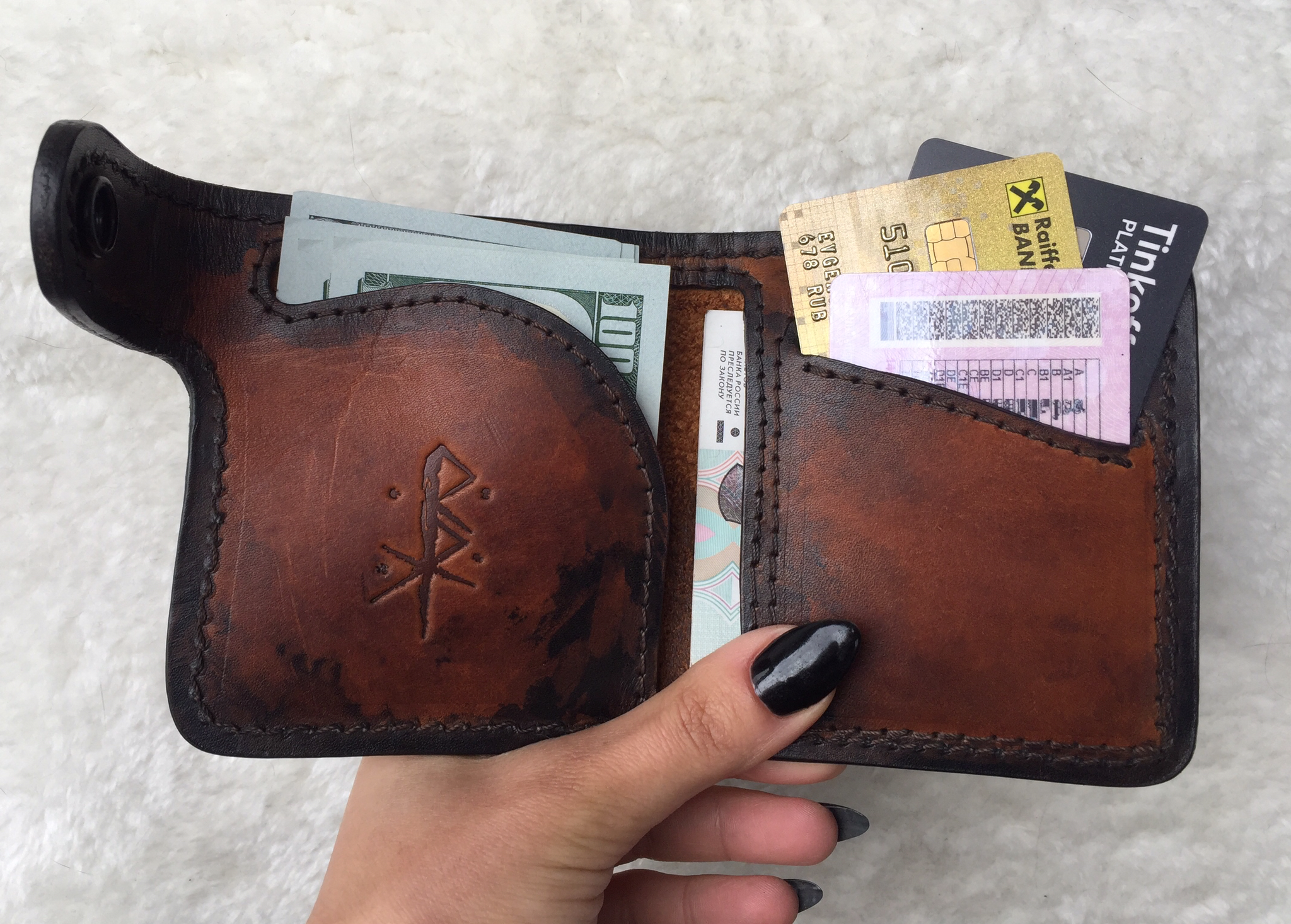 Leather Wallet (handmade, 100% genuine leather)