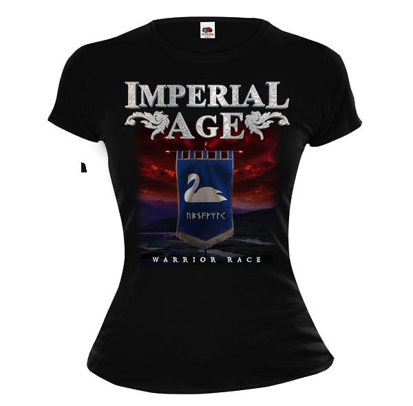 Swan banner T-Shirt (girlie) 00003