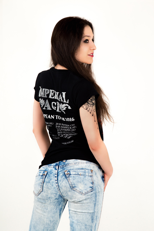 Swan banner T-Shirt (girlie)