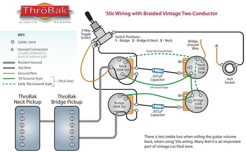508452571 maximum vintage 1950's repro les paul wiring harness