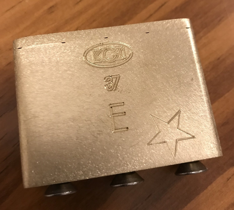 KGC Floyd Rose® Original Brass Tremolo Block 37mm x 5/8 Inch