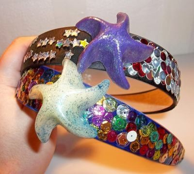 Rainbow Starfish Headbands