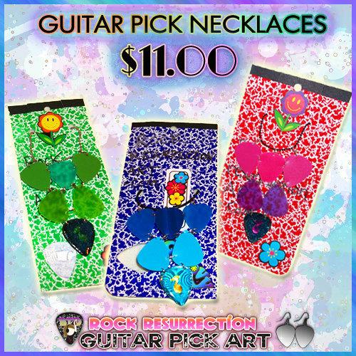 Guitar Pick Necklaces