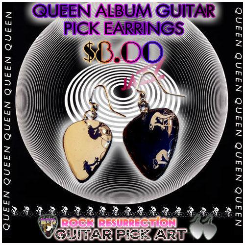 "QUEEN ""Jazz"" Series Guitar Pick Earrings"
