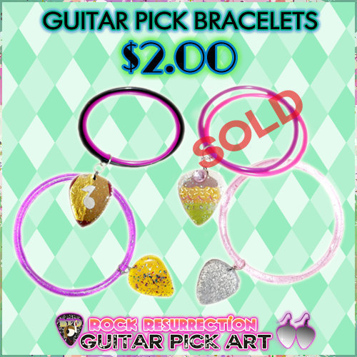 Guitar Pick Bracelets (Pick Yours)