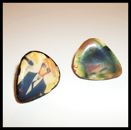 David Bowie Guitar Pick Lapel Pins
