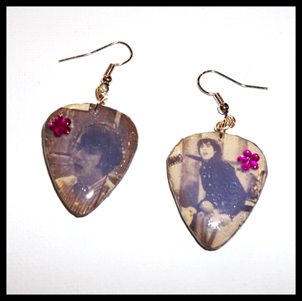 *Sale* More Of The Monkees Guitar Pick Earrings