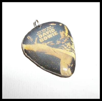 David Bowie Guitar Pick Pendant