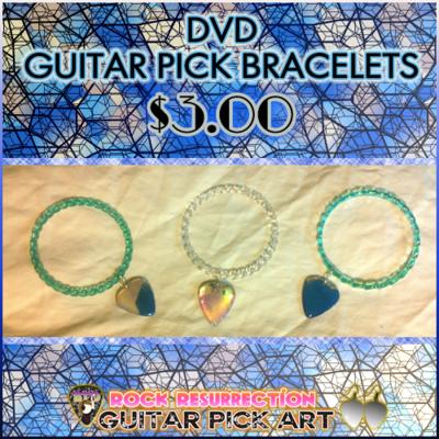 DVD Pendant Guitar Pick Bracelets