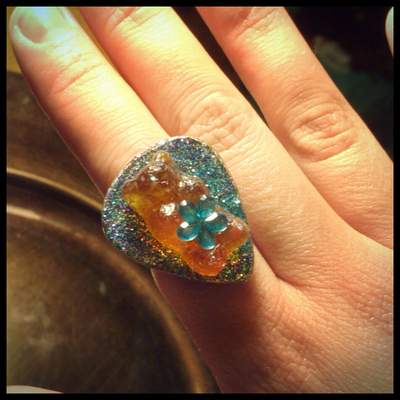 Guitar Pick Gummy Bear Ring