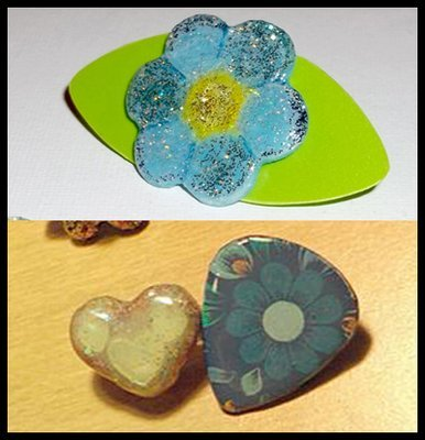 New Guitar Pick Brooches