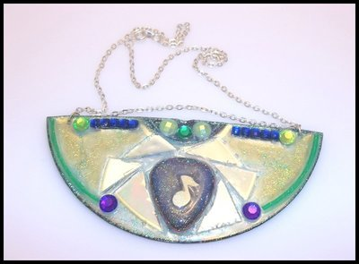 Egyptian Collar Recycled CD Necklace