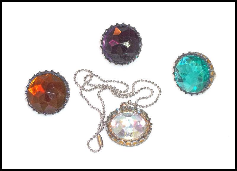 Bottle Cap & Mega Gems Jewelry Set