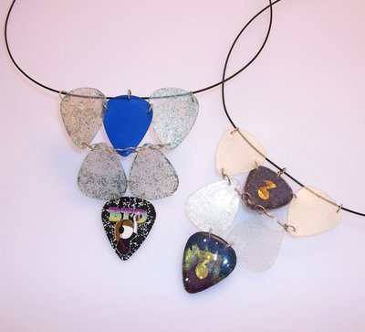 Guitar Pick Steel Wire Necklaces