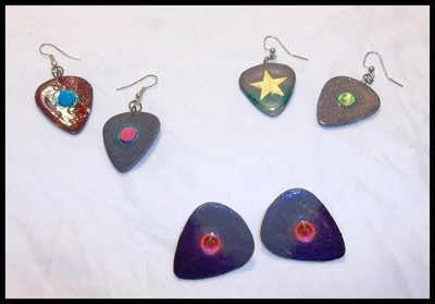 Color CHANGING Guitar Pick Earrings