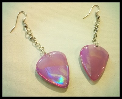 Dangle DVD Guitar Pick Earrings