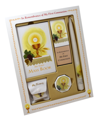 FIRST MASS BOOK (MY FIRST EUCHARIST) DELUXE SET