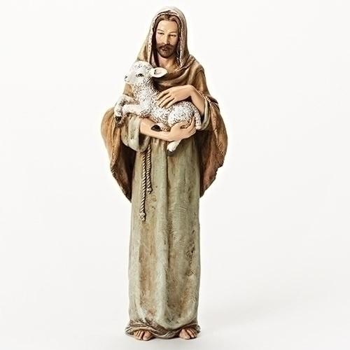 "10.25""H JESUS W/ LAMB FIGURE"