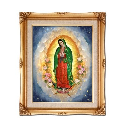 FRAMED ART GOLD OL GUADALUPE
