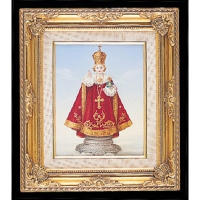 FRAMED ART GOLD INFANT OF PRAGUADALUPEE