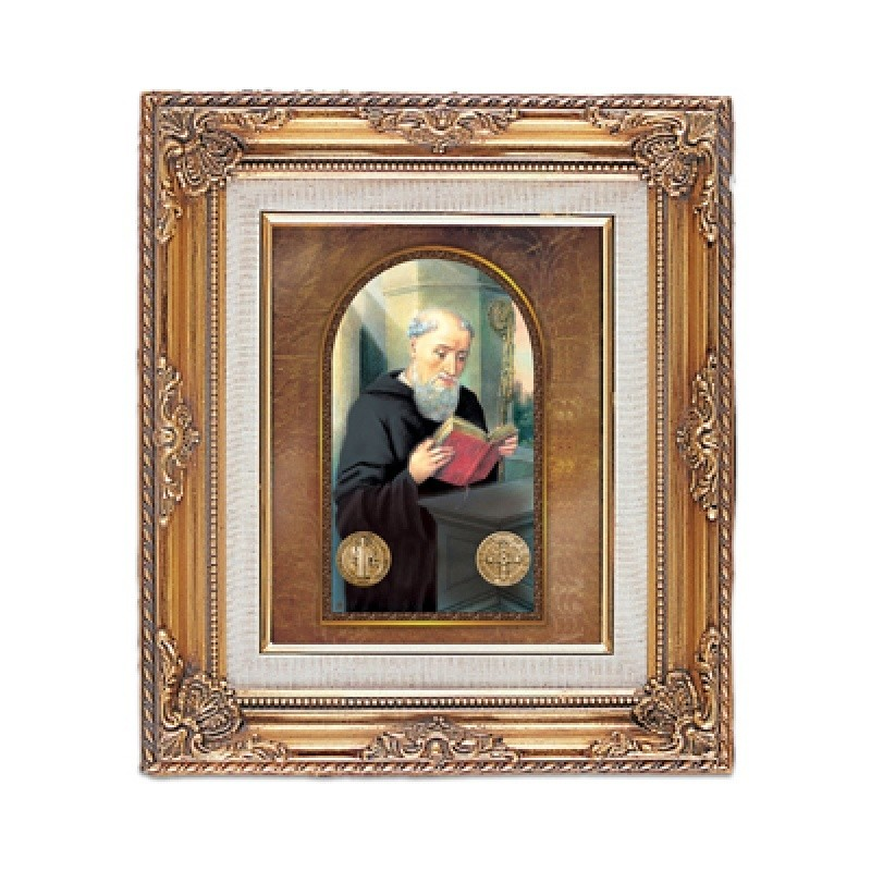 FRAMED ART GOLD ST BENEDICT