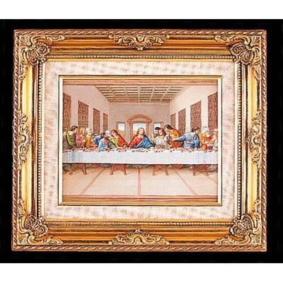 FRAMED ART GOLD LAST SUPPER