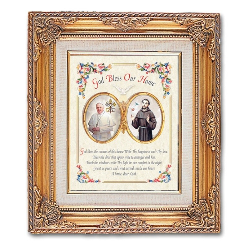 FRAMED ART GOLD POPE FRANCIS