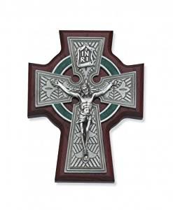 5 1/2 Inch Cherry Celtic Crucifix Religious Art Catholic Holy Wall