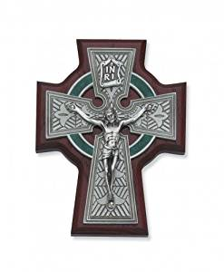 5 1/2 Inch Cherry Celtic Crucifix Religious Art Catholic Holy Wall