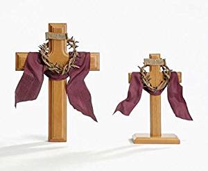 Roman Inc. Crown of Thorns Standing Cross - Communion Confirmation Easter Gift Religious 13145