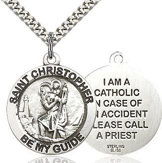 St. Christopher Pendant Medal (Catholic)