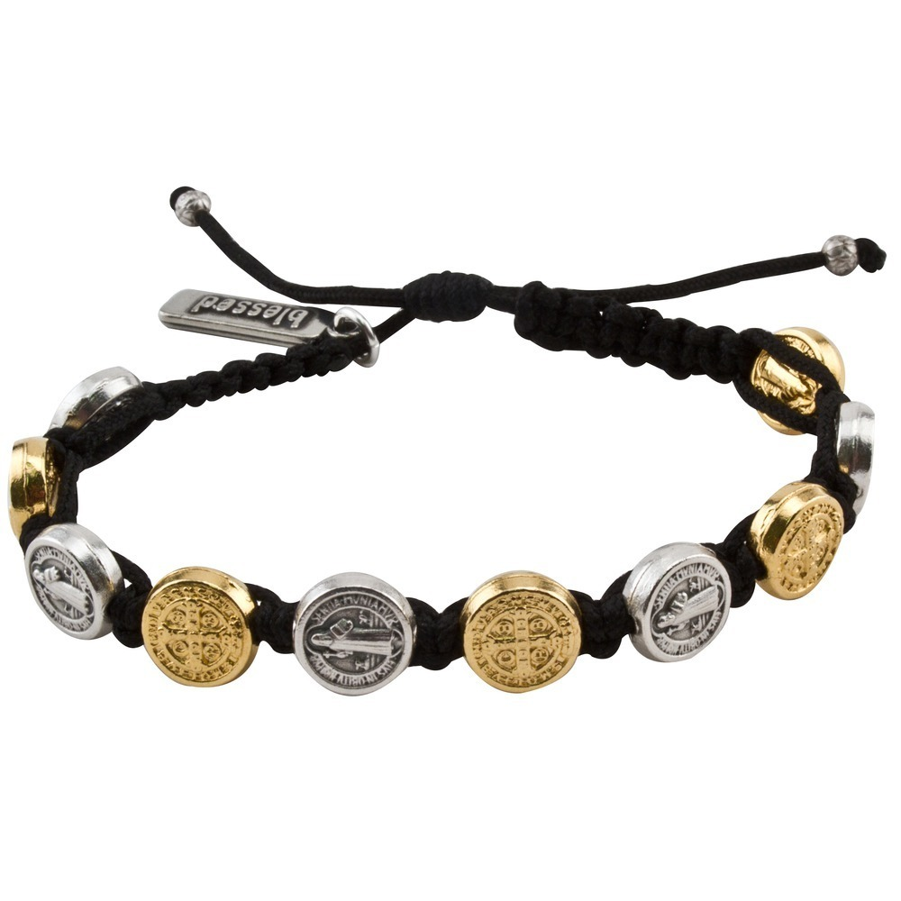 Gold & Silver Benedictine Bracelet (My Saint My Hero)