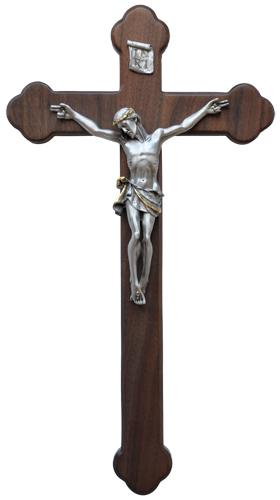 """18"""" Walnut Crucifix"""