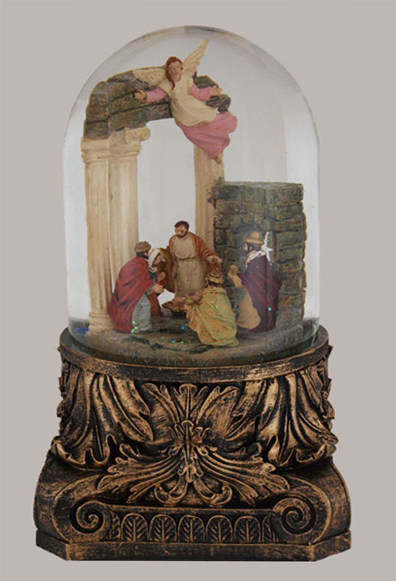 "8"" Musical Nativity Snow Globe Glitterdome"