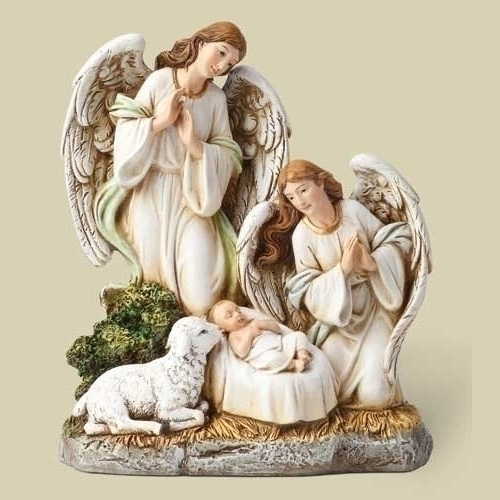 Angels with a Lamb and Jesus Figure