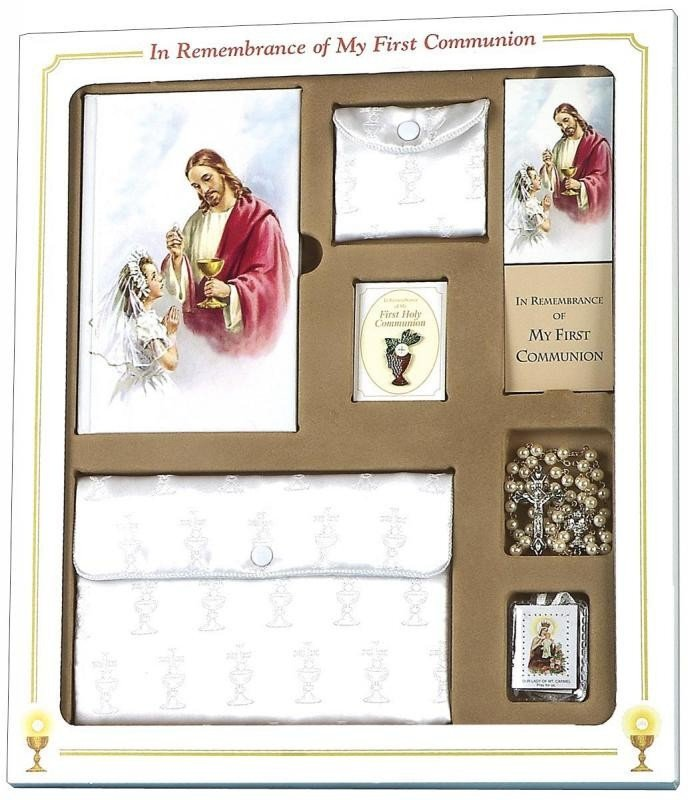 In Remembrance of My First Communion 7 PC Gift Set (Girls)