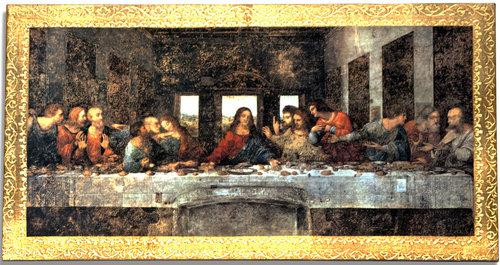 De Vinci Last Supper Wood Plaque