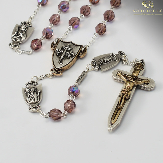 Warrior's Rosary for Women (Amethyst Bohemian)