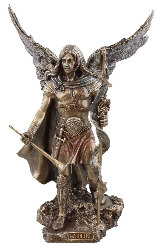 St. Gabriel Archangel Veronese Statue, Bronzed 9 inch
