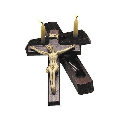 """Sick Call Crucifix - 12"""" cherry"""