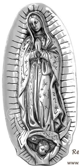 "14"" Our Lady of Guadalupe Pewter Wall Plaque"