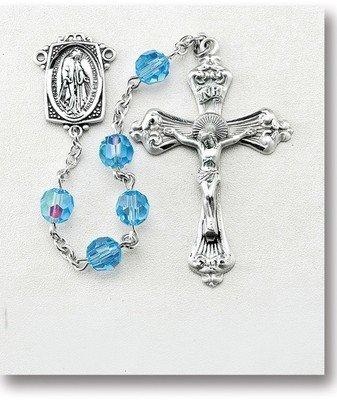 Light Sapphire Swarovski Crystal Rosary