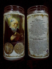 St. Benedict  Devotional Offering Candle