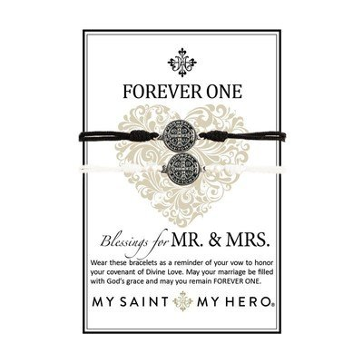 Forever One Bracelets: Blessings for MR. & MRS. (My Saint My Hero)