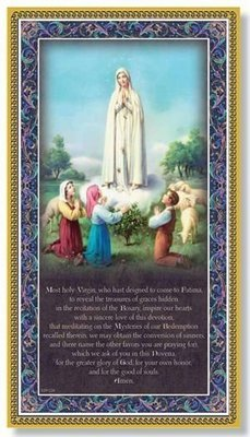 Our Lady of Fatima Prayer Plaque