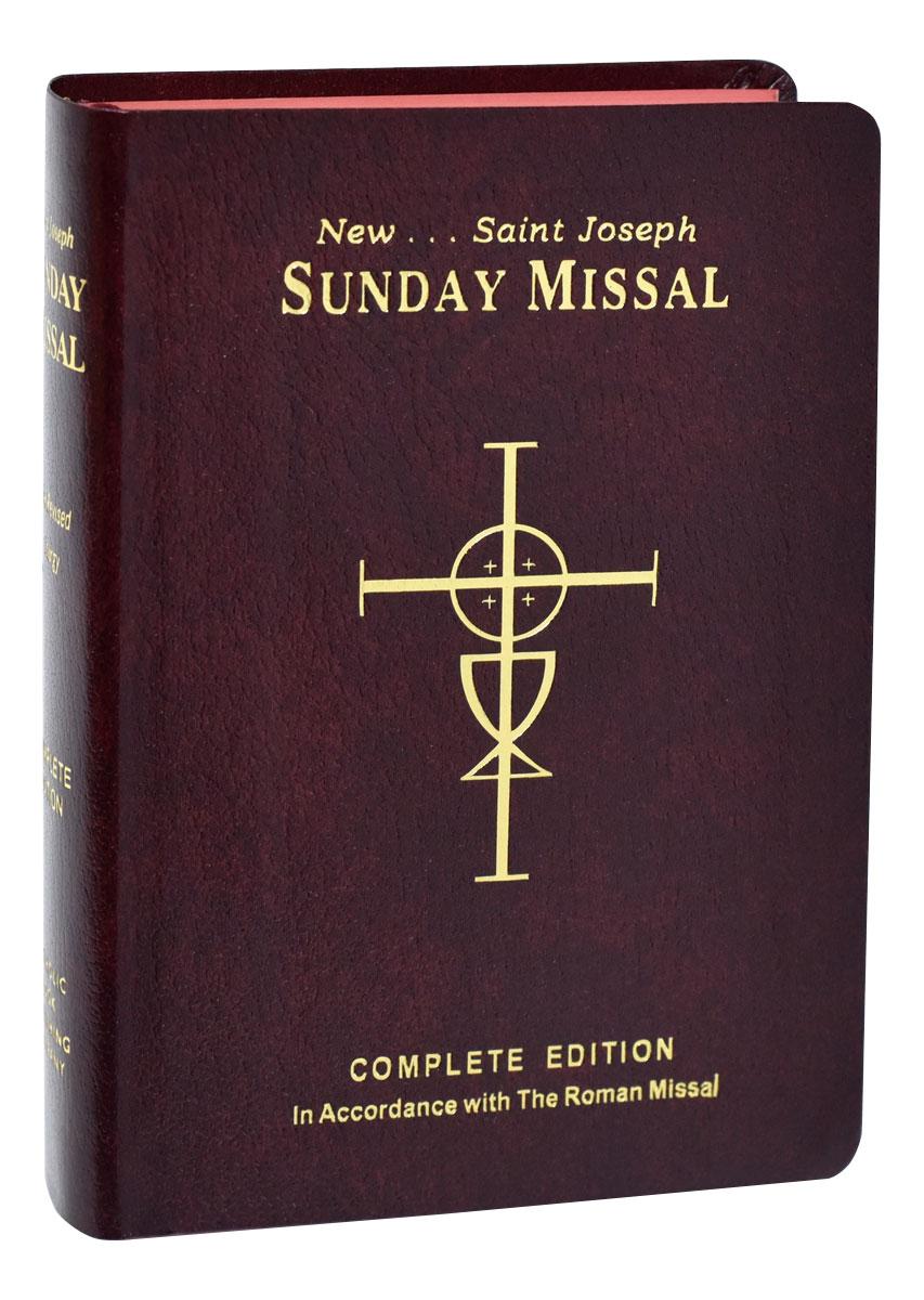 ST. JOSEPH SUNDAY MISSAL , Red Flexible
