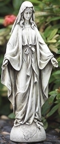 "14"" OUR LADY OF GRACE GARDEN JOSEPHS STUDIO OUTDOOR STATUE"